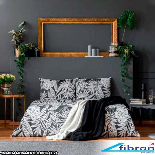 Cobertor microfibra casal preto