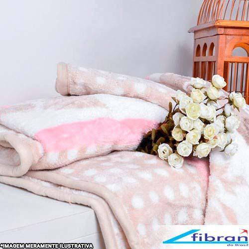 Manta microfibra floral